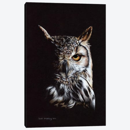 Eagle Owl II Canvas Print #SAS35} by Sarah Stribbling Canvas Art Print