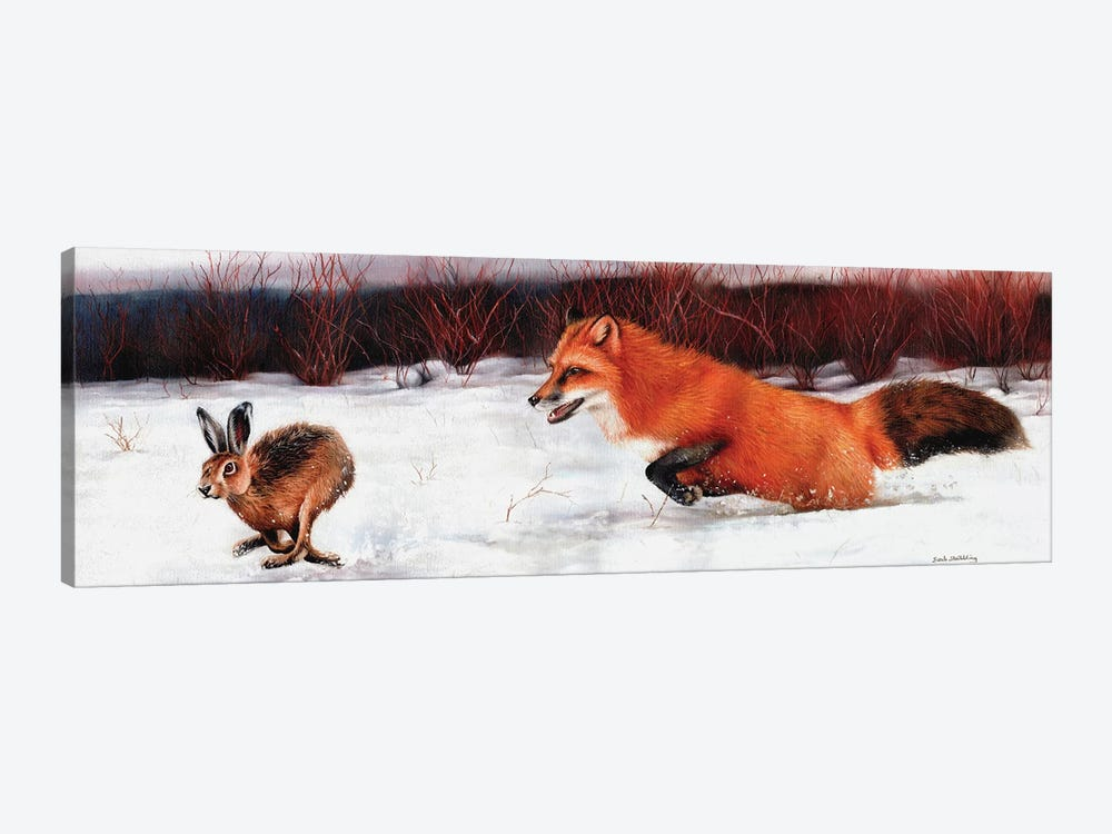 Fox And Hare by Sarah Stribbling 1-piece Canvas Art