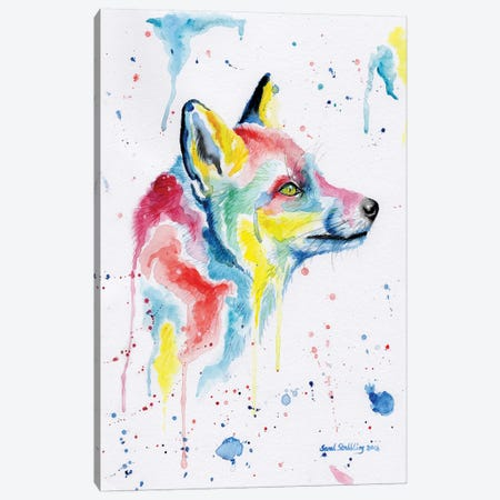 Fox Dream Canvas Print #SAS39} by Sarah Stribbling Canvas Wall Art