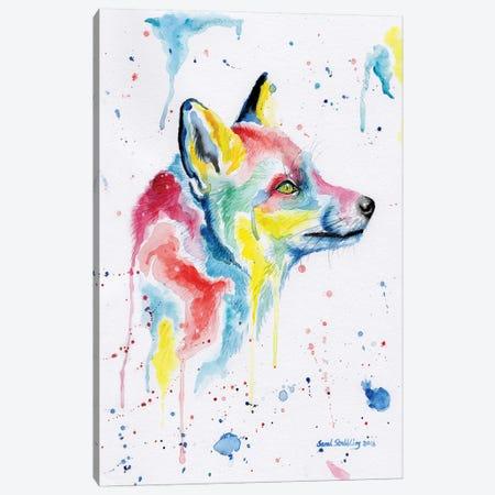 Fox Dream Canvas Print #SAS39} by Sarah Stribbling Canvas Wall Art