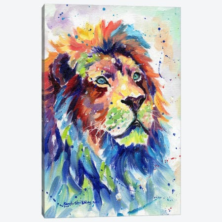 African Lion Dream Canvas Print #SAS3} by Sarah Stribbling Canvas Print