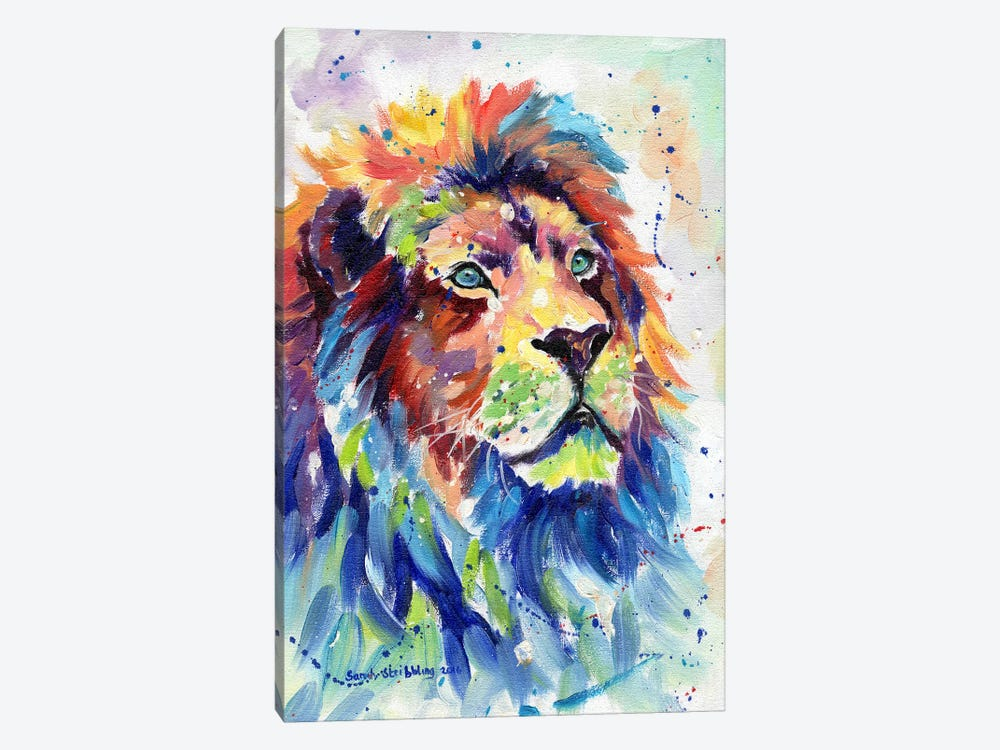 African Lion Dream by Sarah Stribbling 1-piece Canvas Art