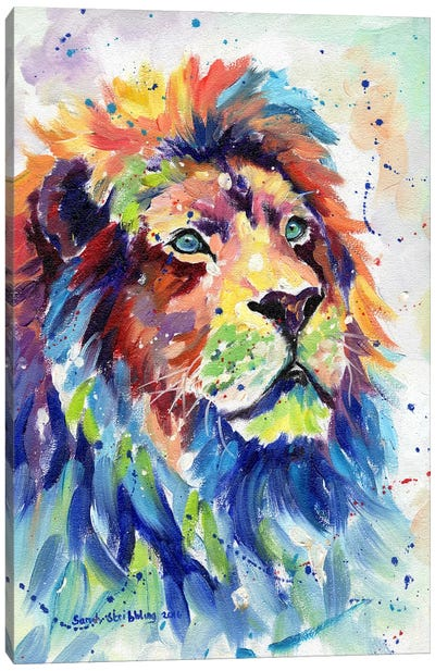 African Lion Dream Canvas Art Print