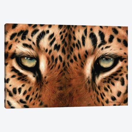Leopard Eyes Canvas Print #SAS59} by Sarah Stribbling Canvas Wall Art