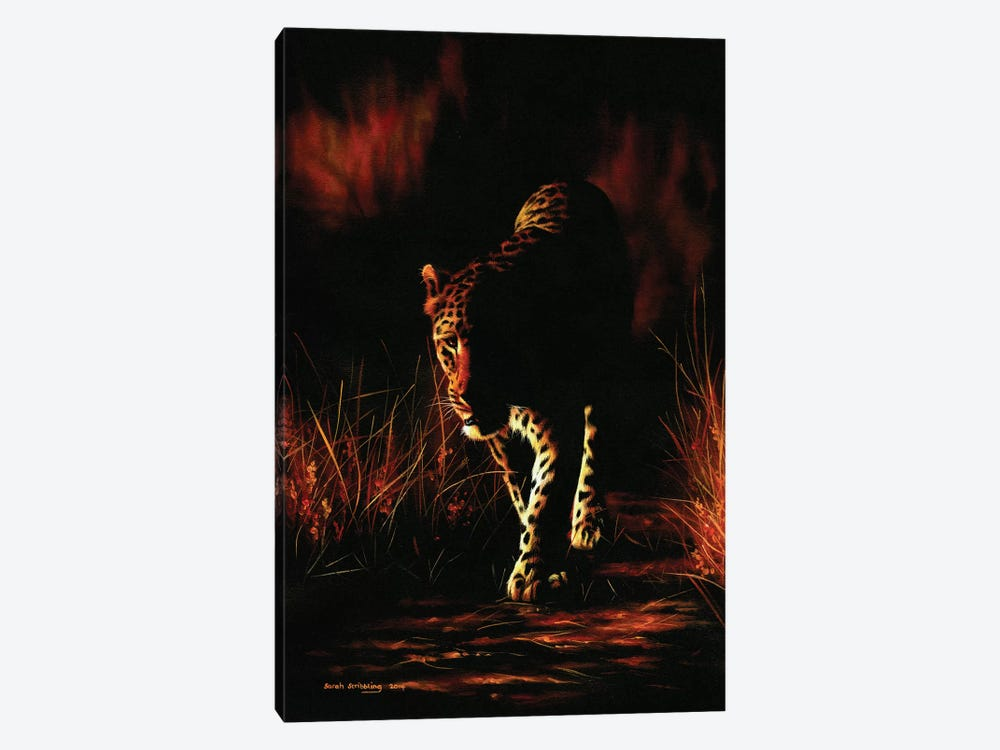Leopard Walking by Sarah Stribbling 1-piece Art Print