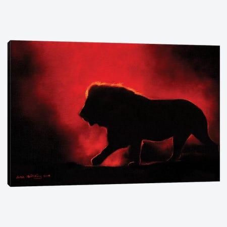 Lion Twilight III Canvas Print #SAS69} by Sarah Stribbling Canvas Art Print