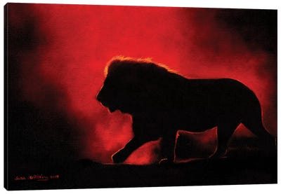 Lion Twilight III Canvas Art Print