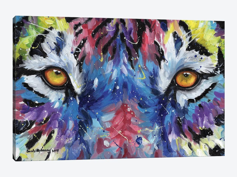 Multicolour Tiger Eyes by Sarah Stribbling 1-piece Art Print