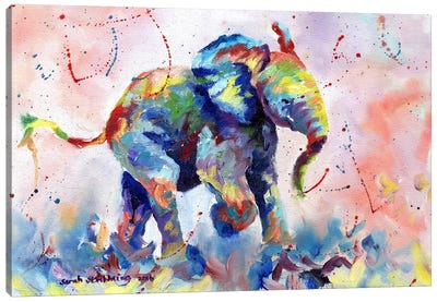 Baby Elephant Canvas Art Print