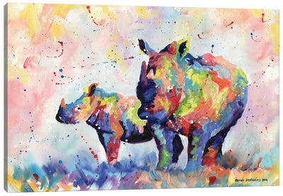 Rhinos Canvas Art Print