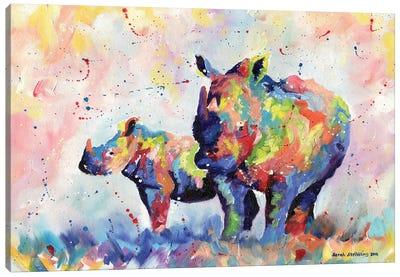 Rhinos Canvas Art Print