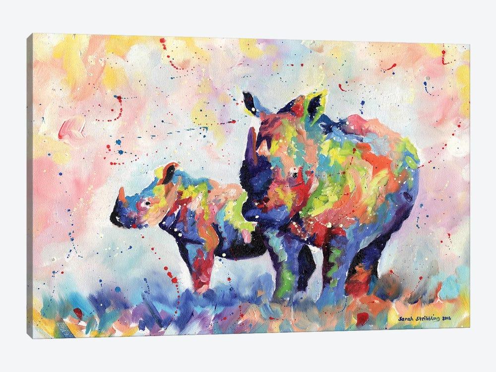 Rhinos by Sarah Stribbling 1-piece Canvas Art
