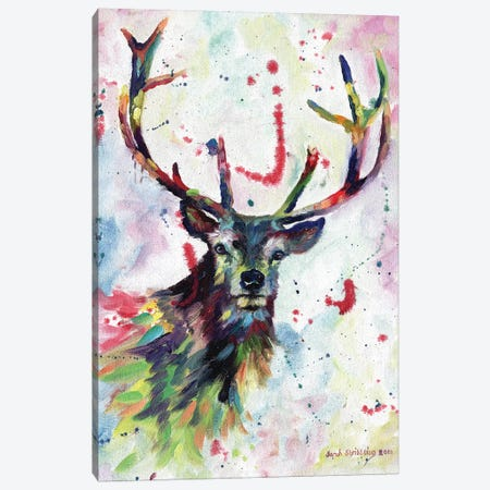 Stag dream 3-Piece Canvas #SAS94} by Sarah Stribbling Canvas Art Print
