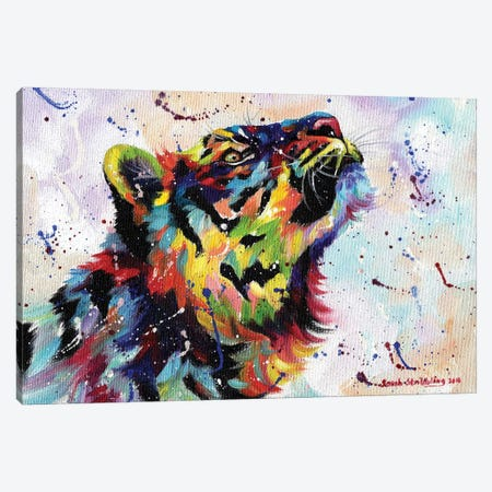 Tiger I 3-Piece Canvas #SAS96} by Sarah Stribbling Canvas Print