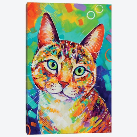 Colorful Cat Canvas Print #SAT10} by Sandra Trubin Canvas Print