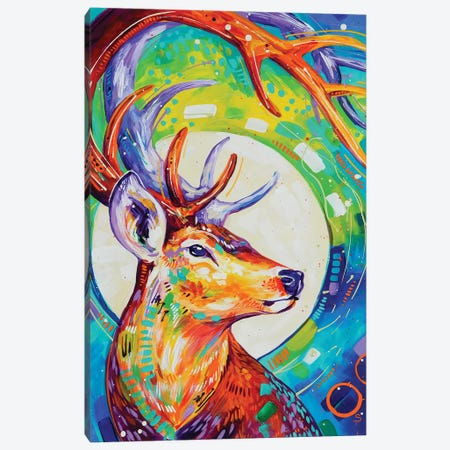 Deer 3-Piece Canvas #SAT13} by Sandra Trubin Canvas Print