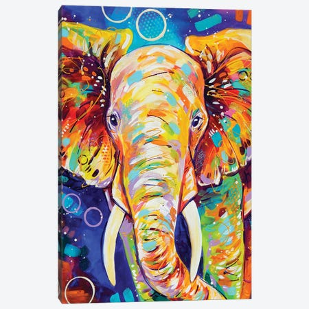 Elephant Canvas Print #SAT14} by Sandra Trubin Canvas Artwork