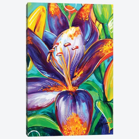 Forever Susan Lily Canvas Print #SAT17} by Sandra Trubin Canvas Wall Art