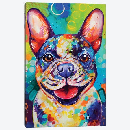 French Bulldog Canvas Print #SAT18} by Sandra Trubin Art Print