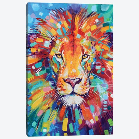 Abstract Lion Canvas Print #SAT1} by Sandra Trubin Canvas Wall Art