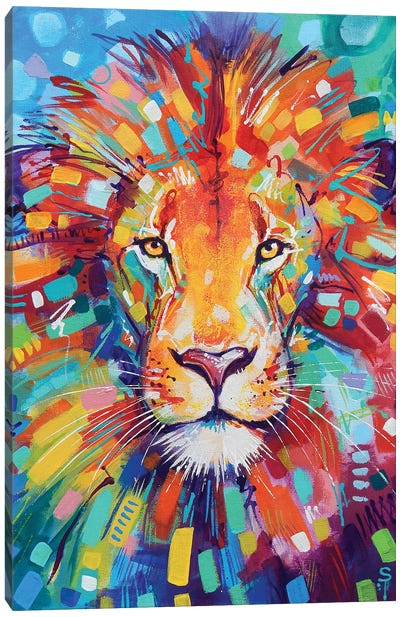 Abstract Lion Canvas Art Print