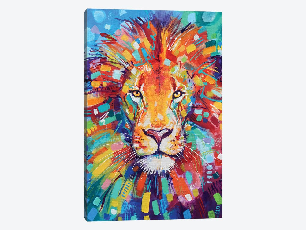 Abstract Lion by Sandra Trubin 1-piece Canvas Print