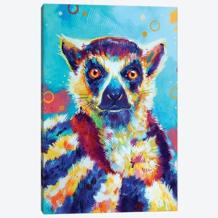Lemur Canvas Print #SAT23} by Sandra Trubin Canvas Wall Art