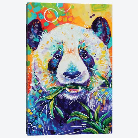 Panda Canvas Print #SAT25} by Sandra Trubin Canvas Art Print