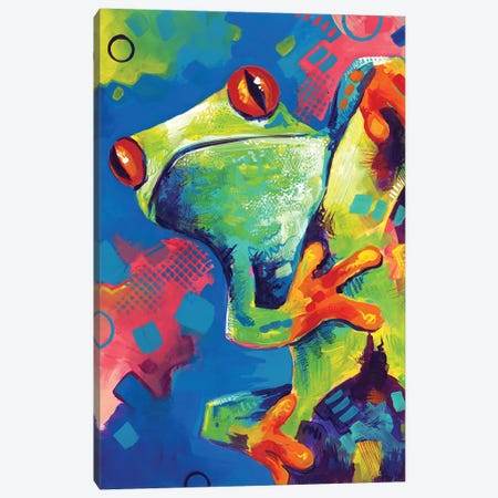 Amazon Frog Canvas Print #SAT2} by Sandra Trubin Canvas Artwork
