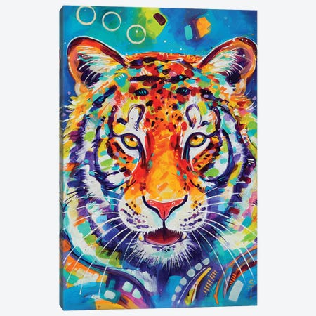 Tiger Canvas Print #SAT33} by Sandra Trubin Canvas Print