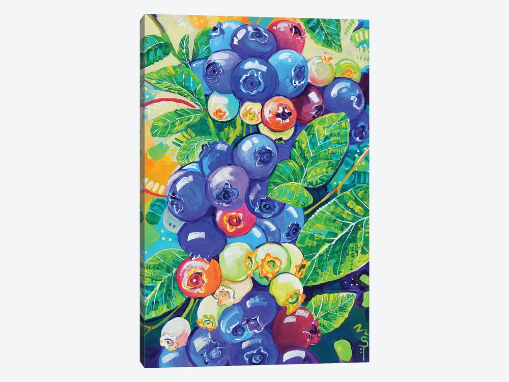 Colorful Blueberries by Sandra Trubin 1-piece Canvas Print