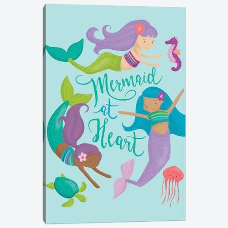 Mermaid At Heart II Canvas Print #SAU18} by Dana Saulnier Canvas Art