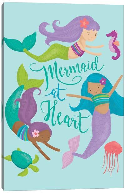 Mermaid At Heart II Canvas Art Print