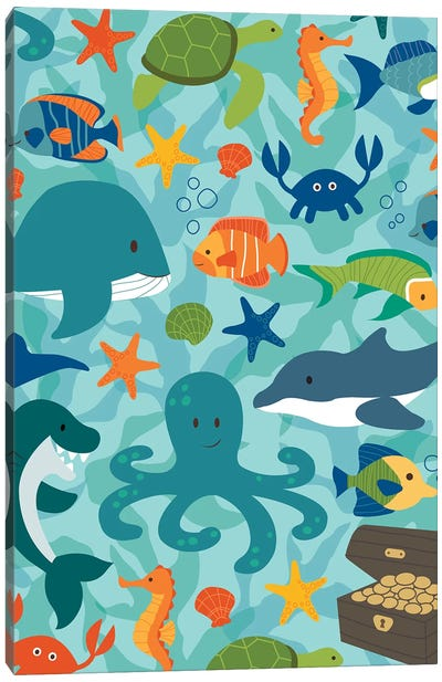Sea Creatures Canvas Art Print
