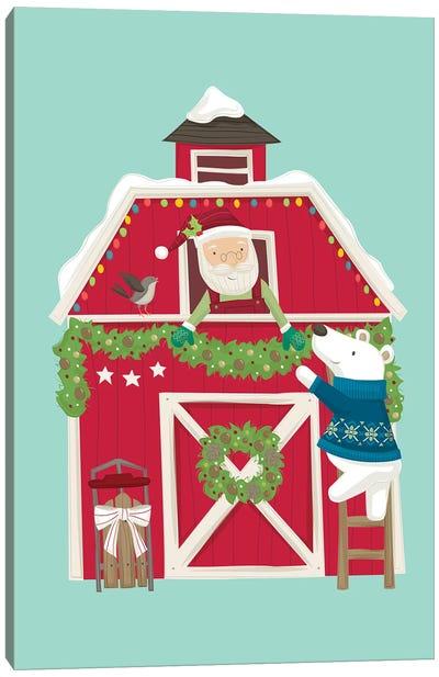 Christmas At The Cabin I Canvas Art Print