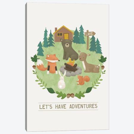 Forest Adventure II Canvas Print #SAU21} by Dana Saulnier Canvas Art Print