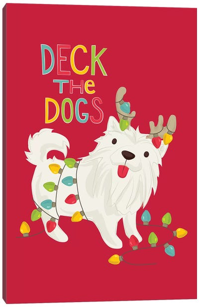 Deck The Dogs I Canvas Art Print