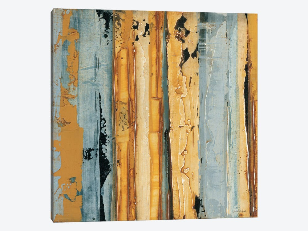 Ochre, Blue Overlay I by Sarah West 1-piece Canvas Artwork