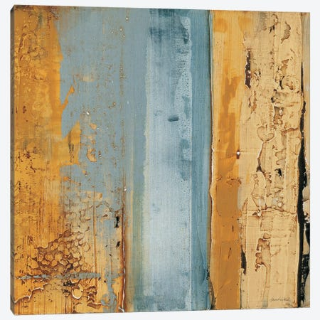 Ochre, Blue Overlay II Canvas Print #SAW2} by Sarah West Art Print