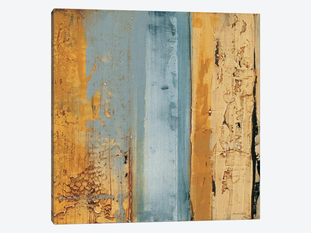 Ochre, Blue Overlay II by Sarah West 1-piece Canvas Print