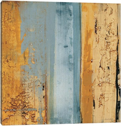 Ochre, Blue Overlay II Canvas Art Print
