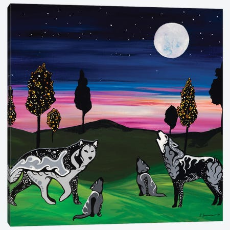 Learning To Howl Canvas Print #SAZ10} by Sam Zimmerman Canvas Art Print