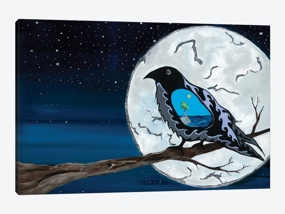 Raven - Evening Cry by Sam Zimmerman 1-piece Canvas Print