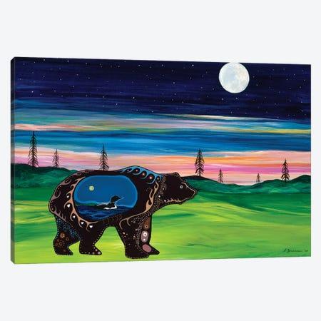 Bear Guides The Family Canvas Print #SAZ30} by Sam Zimmerman Art Print