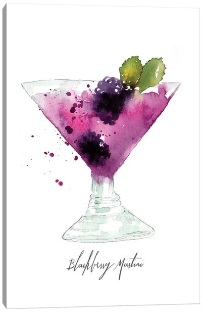 Blackberry Martini Canvas Art Print