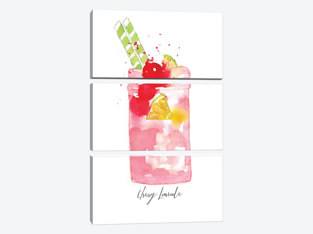 Cherry Limeade by Sara Berrenson 3-piece Canvas Wall Art