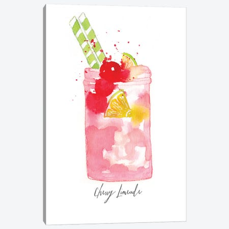 Cherry Limeade Canvas Print #SBE15} by Sara Berrenson Art Print