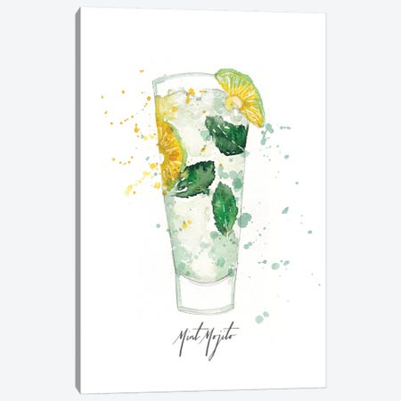 Mint Mojito Canvas Print #SBE16} by Sara Berrenson Art Print