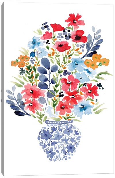 Chinoiserie Floral Canvas Art Print