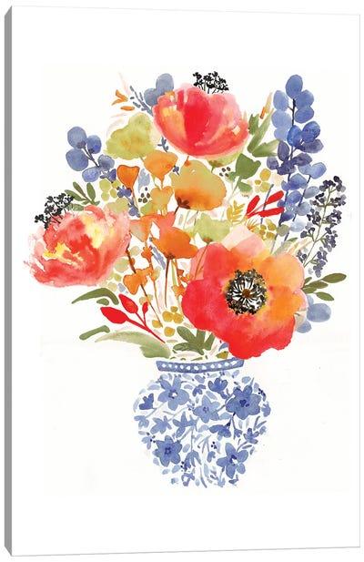 Chinoiserie Poppy Canvas Art Print
